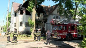 Firefighters battle house fire near 31st and Mt. Vernon in Milwaukee