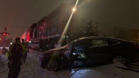 Driver suffered minor injuries in crash involving train near Bradley and Teutonia in Brown Deer