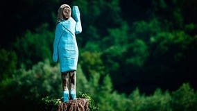 Melania Trump statue in Slovenia set on fire on 4th of July; suspects sought