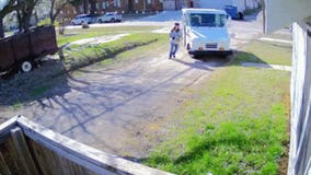 USPS driver throws packages on porch, runs lap around truck, speeds off