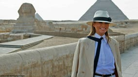 Melania Trump puts on happier face during Africa tour