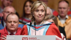 Hillary Clinton seemingly unharmed in car crash