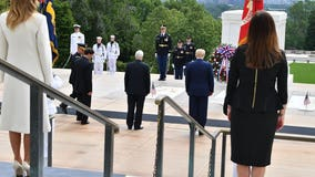 President Trump honors fallen soldiers on Memorial Day in twin events