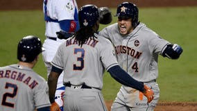 World Series: George Springer's 2-run homer gives Astros Game 2 win; series tied