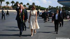 Pres. Trump stops in Hawaii, eagerly awaits Pearl Harbor visit