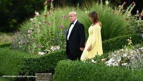 Trumps, May, attend gala at UK's Blenheim Palace