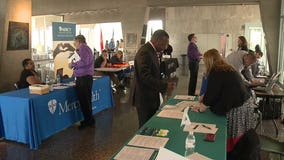 Job Fair for veterans held at War Memorial Center in Milwaukee; 80 employers on hand