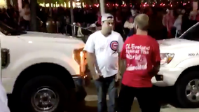 Video shows Cubs fan knocked out cold by man in Cleveland gear after World Series