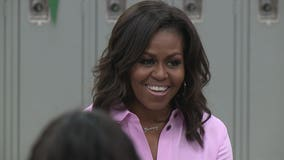 Encouraging success: Michelle Obama and Conan O'Brien make surprise stop at Milwaukee school