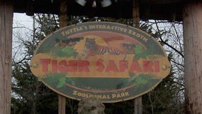 Exotic animals 'on the loose' after Tiger Safari near Oklahoma City hit by tornado