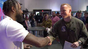 A special Q&A: Military members recognized, meet Jarvis Landry in Miami