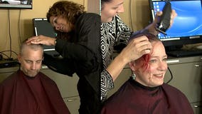 'Just humbling:' MPD captain shaves head, payback for money raised for breast cancer patient