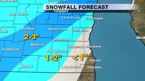 1st snow of the season expected Monday night, 0.5 to 2 inches possible