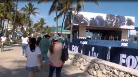 No winter here: Super Bowl fans soak up South Beach sun ahead of game