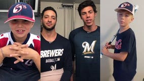 Rooting for Yelich: Boys from winless team send #22 a heartfelt 'get well' message