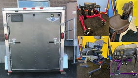 Trailer full of adaptive equipment for children with special needs stolen from Oak Creek