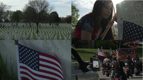 'Taken it upon ourselves:' WI Truck Takeover Enthusiasts place 5K flags at Wood National Cemetery