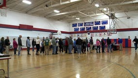 Voters deal with long lines in Waukesha County before polling locations open on Election Day