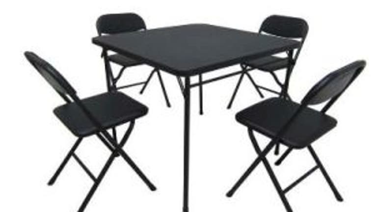Mainstays five-piece card table and chair set