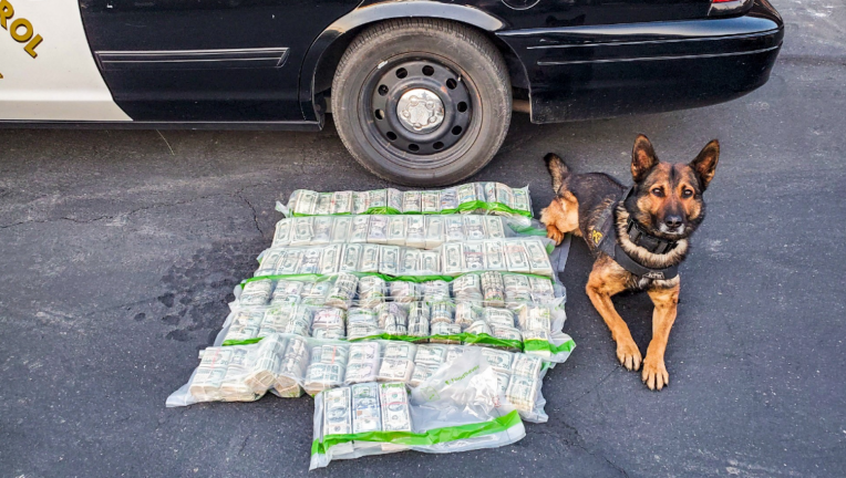 The CHP officer was traveling with his K-9 partner