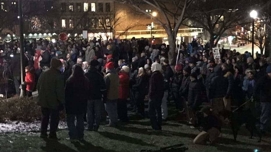 Protests at the Capitol over GOP lame-duck legislation