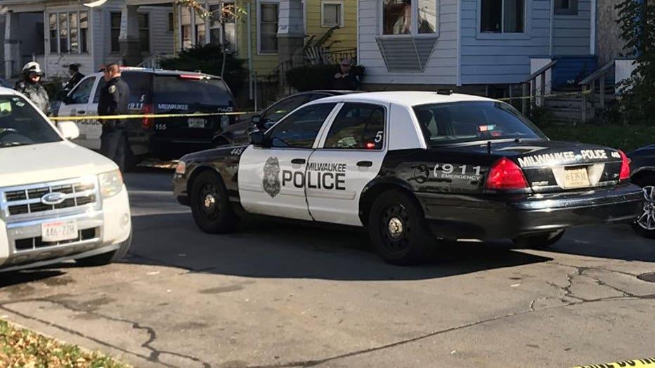 Crime scene at 11th and Atkinson, Milwaukee