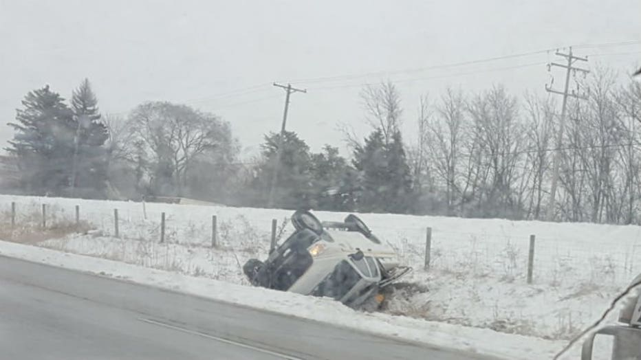 Rollover crash in Racine Co.