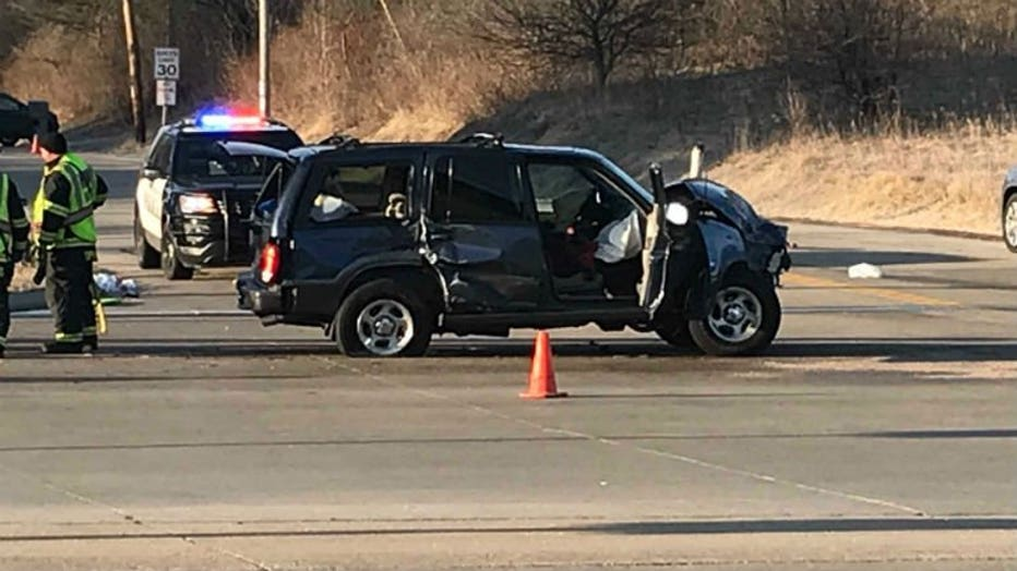 Crash near Brown Deer Road and Range Line Road in River Hill