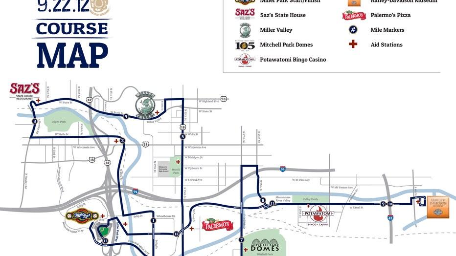 2012 Mini Marathon Course Map