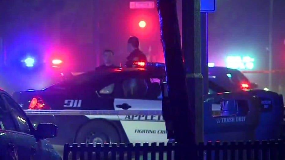 Scene of officer-involved shooting in Appleton