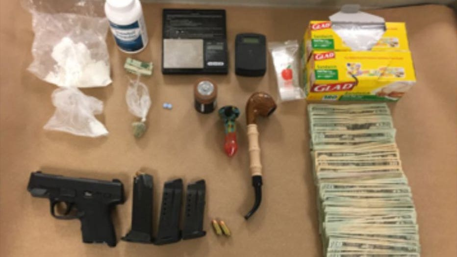 Drugs confiscated from home at 1200 N. Memorial Dr., Racine