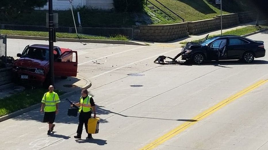 Crash at 60th and Pierce