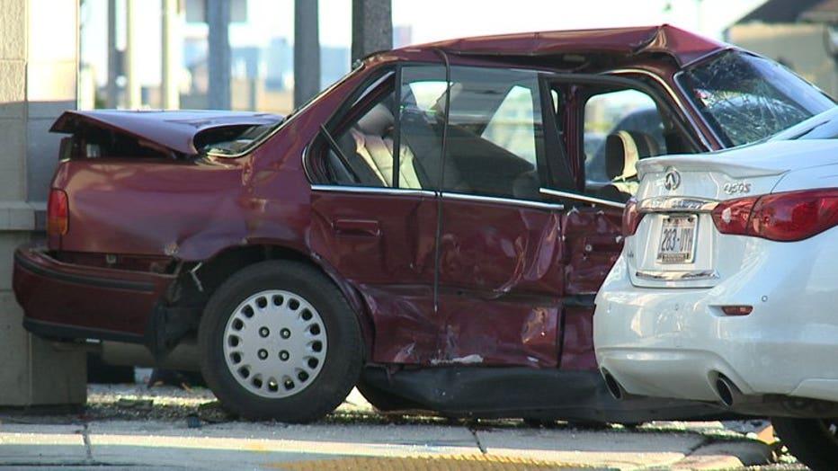 Crash at 27th & Wells, Milwaukee