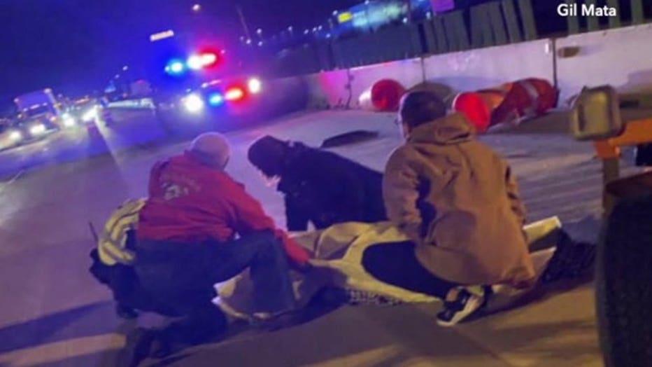 Deputy struck by signboard struck by FedEx driver on I-94 near Drexel