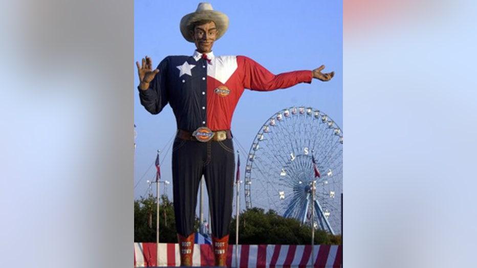 Big Tex before fire (Courtesy AP)