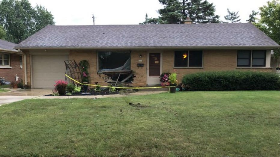 Vehicle crashes into home near 72nd and Cleveland in West Allis
