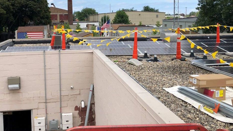Solar panels installed at village of tiny homes for veterans in Racine