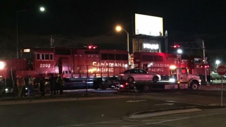 Car vs. train crash near Greenfield Avenue and Miller Park Way