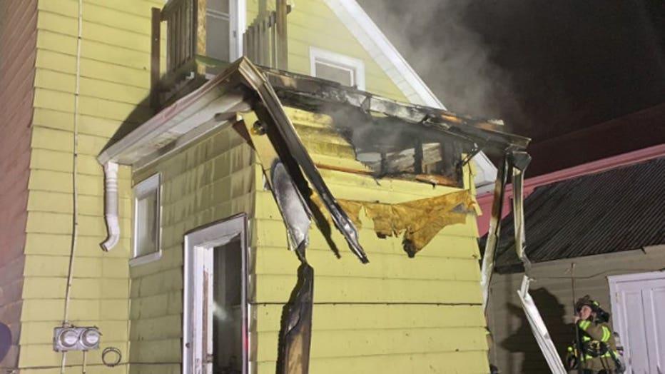 House fire on Scott Street in Fond du Lac (Courtesy: Fond du Lac Fire)