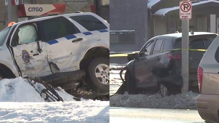 Crash at Hampton and Hopkins, Milwaukee