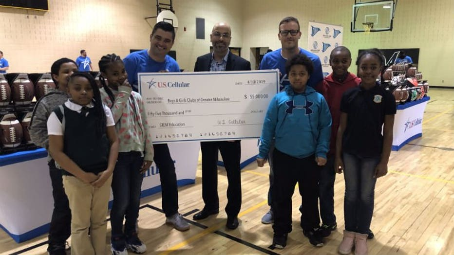 $55,000 donation to the Boys and Girls Clubs of Greater Milwaukee