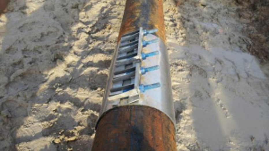 Repair to jet fuel pipeline