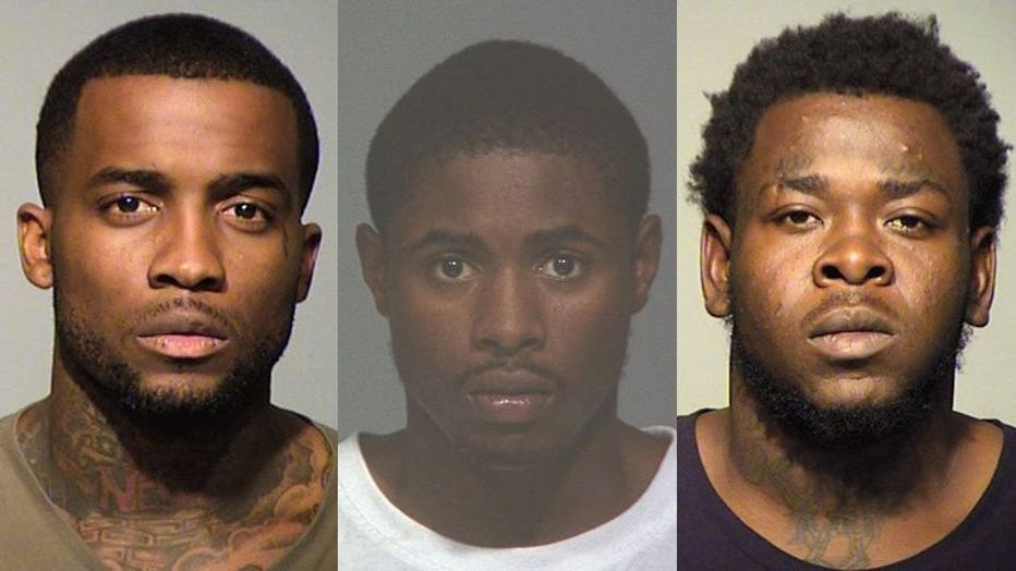 Tommy Zollicoffer, Dominique Brown, Damont Fipps