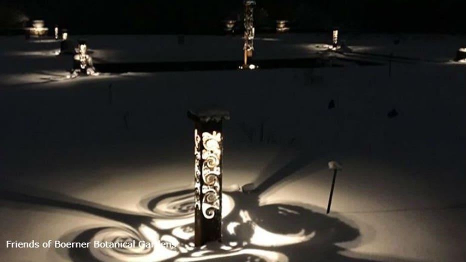 Year-round lighting at Boerner Botanical Gardens (PHOTO: Friends of Boerner Botanical Gardens)
