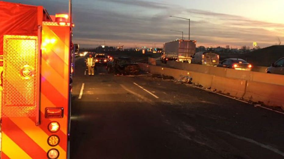 Crash on I-94 NB at Ryan Road