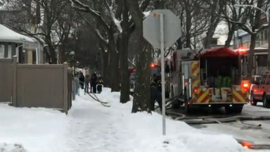 Crash and fire near 13th and Columbia in Milwaukee