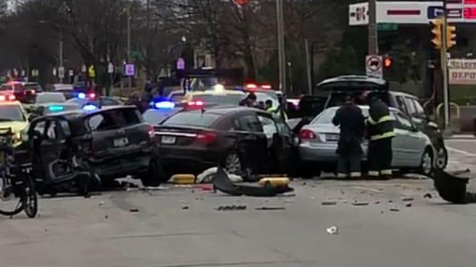 Crash near 13th and Morgan credit Stephanie Routt