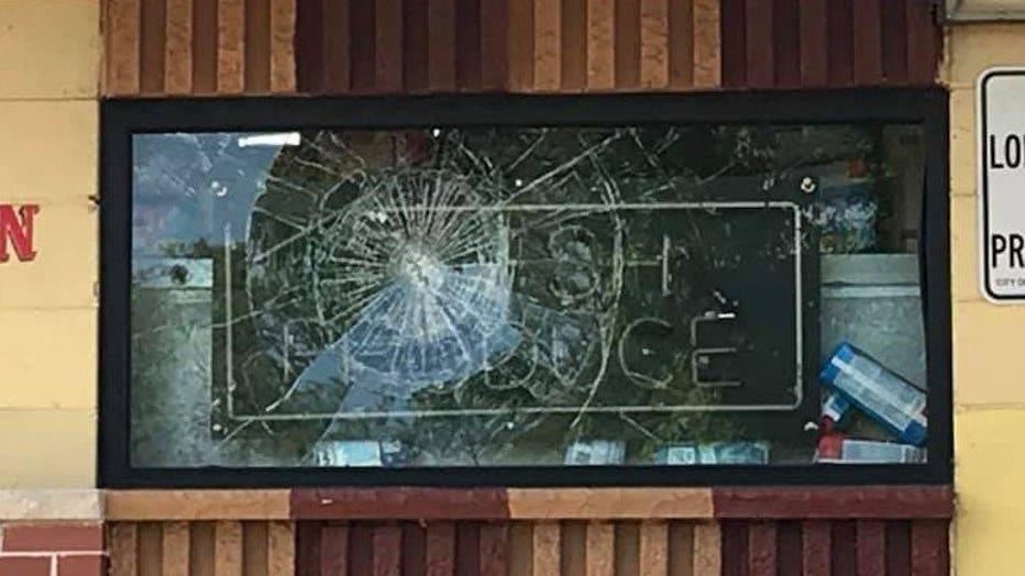 Vandalism seen at Fast N' Friendly, Milwaukee