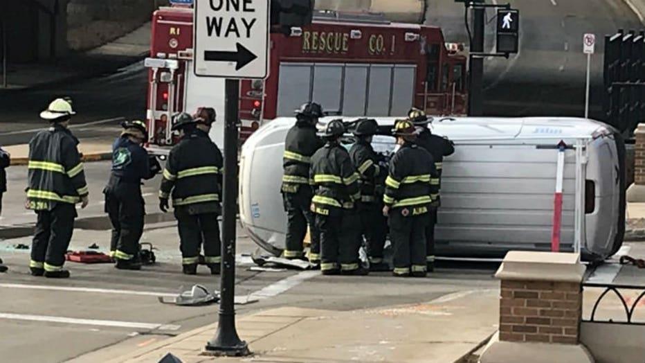 Crash near 10th and Michigan