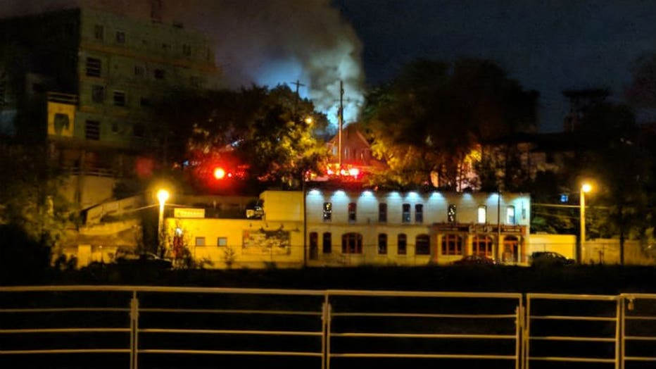 Fire near Land Place and Marshall in Milwaukee